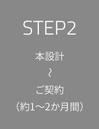 STEP2 本設計~ご契約(約1~2か月間)